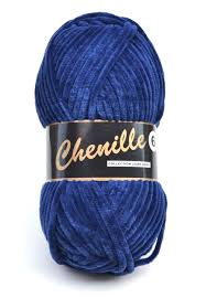 890 Navy Chenille 6 Lammy Yarns