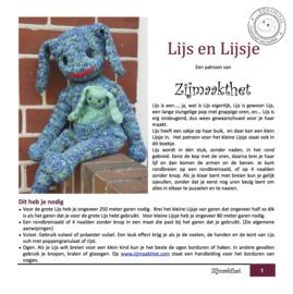 Lijs en Lijsje Patroonboekje ZijMaaktHet