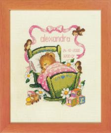 Lief beertje in wiegje roze Aida Telpakket pako