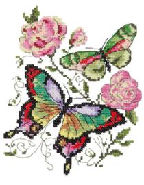 Butterflies & Roses Aida Telpakket Chudo-Igla