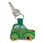 Green Car Aida Key Ring Permin