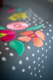 Tafelkleed Kleurige bloemen Voorbedrukt - Vervaco