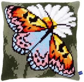 Vlinder en Margriet Kruissteekkussen Vervaco