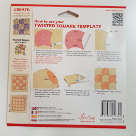 Twisted Square Template Sew Easy