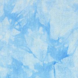 Licht blauw Batik Tissu de marie stof 150cm breed