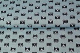 VW T1 blauw 100% katoen Stenzo