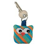 Diagonal Striped Owl Aida Key Ring Permin