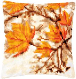 Herfstbladeren Voorbedrukt Kruissteekkussen - Vervaco