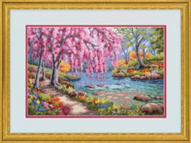 Cherry blossom creek Aida telpakket - Dimensions