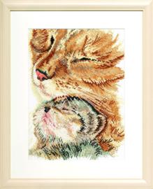 Ontroerende poes met haar kitten Aida Telpakket Pako
