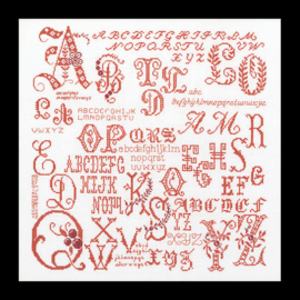 Merklap Antieke Letters Evenwave Telpakket Thea Gouverneur