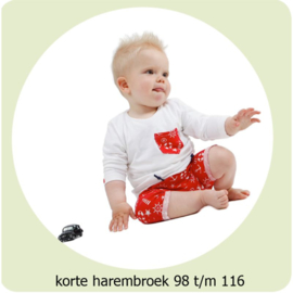 Korte harembroek maat 98 t/m 116 Annie do it yourself naaipatroon