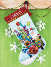 Santa's Sidecar Stocking Aida telpakket Dimensions