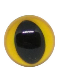 12mm Geel Veiligheidsogen Kat, 2 paar