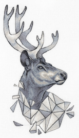 Geometry Deer Aida Panna Telpakket