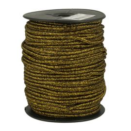Gouden glitter koord Elastiek 3mm