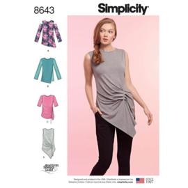 8643 XXS - XXL Simplicity Patroon