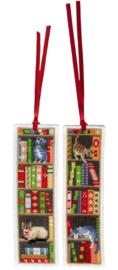 Katten in Boekenrek Boekenleggers Aida Vervaco Telpakket