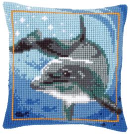 Dolfijn Kruissteekkussen Vervaco