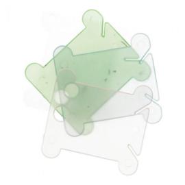 Gekleurde wikkelkaartjes plastic