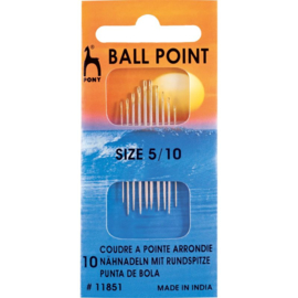 Ball Point Needles Size 5-10 Pony