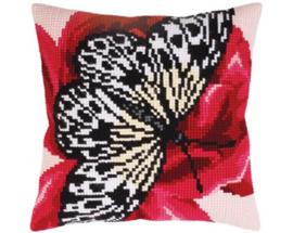 Butterfly Graphics 2 Voorbedrukt Kruissteekkussen Collection D'Art