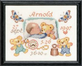 Baby Met Teddybeertjes Aida telpakket Pako