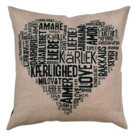 Love Cushion Black Permin