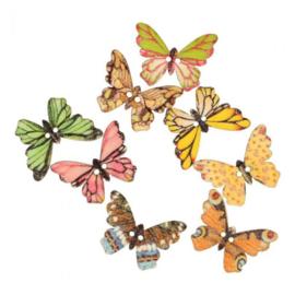 Butterfly 25 mm - Houten Knoop