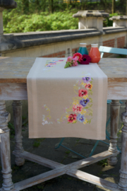 Violets Table Runner Vervaco