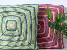 Textured Retro Pillow Gehaakt Durable Double Four