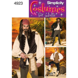 4923 AA Costumes Jack Sparrow / Piraat Simplicity XS-M