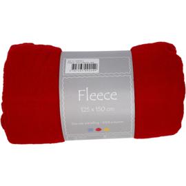 Rood Fleece deken