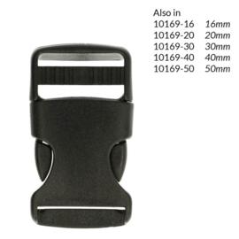 25mm Turbo tassluiting zwart