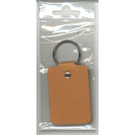 Leder sleutelhanger 6.5 x 4.5cm