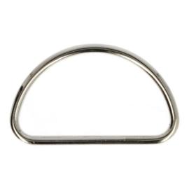 Gesloten D-Ring metaal 50mm oudzilver