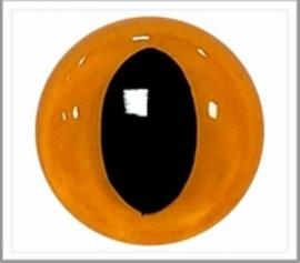 12mm Geel/ Oranje Katten Veiligheidsogen, 2 paar