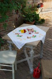 Kippenfamilie bedrukt tafelkleed Vervaco