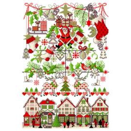 No. 046 Weihnachtsmarkt Lindner's Kreuzstiche Patroon