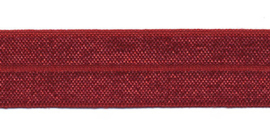 Bordeaux 20mm Elastisch Biaisband