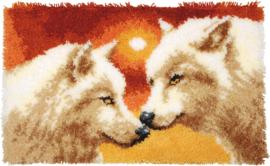 Wolven en Zonsondergang Knoopkleed Vervaco