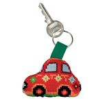 Red Car Aida Key Ring Permin