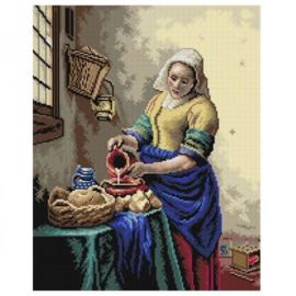 Milkmaid Johan Vermeer Pre-Printed Canvas Deco-Line