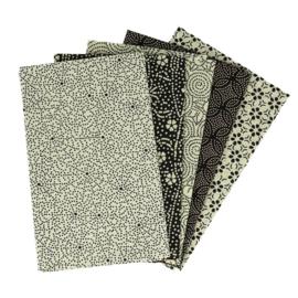 Blanced Beige Fat Quarter Bundle Tissu de Marie