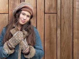 Tweed Wanten en Baret Breien Durable Forest