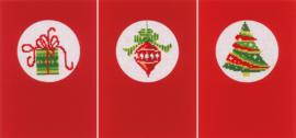 Kerstkaarten set van 3 Telpakket Vervaco