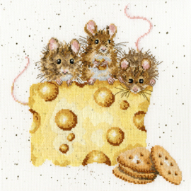 Crackers About Cheese Borduurpakket Wrendale Designs by Hannah Dale XHD53