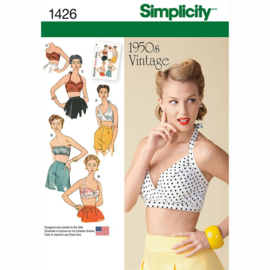 1426 D5 Vintage 1950s TopsSimplicity maat 30-38