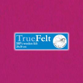 Zacht Fuchsia 20 x 30cm TrueFelt