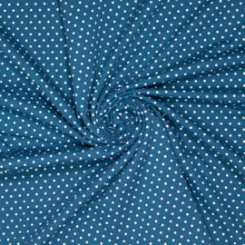 Polkadot Petrol tricot - Ilja Fabrics